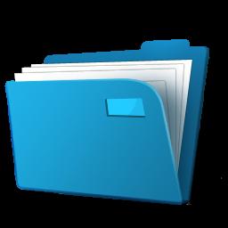 cartella blu
